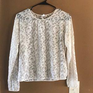 Vintage Natori sheer lace top